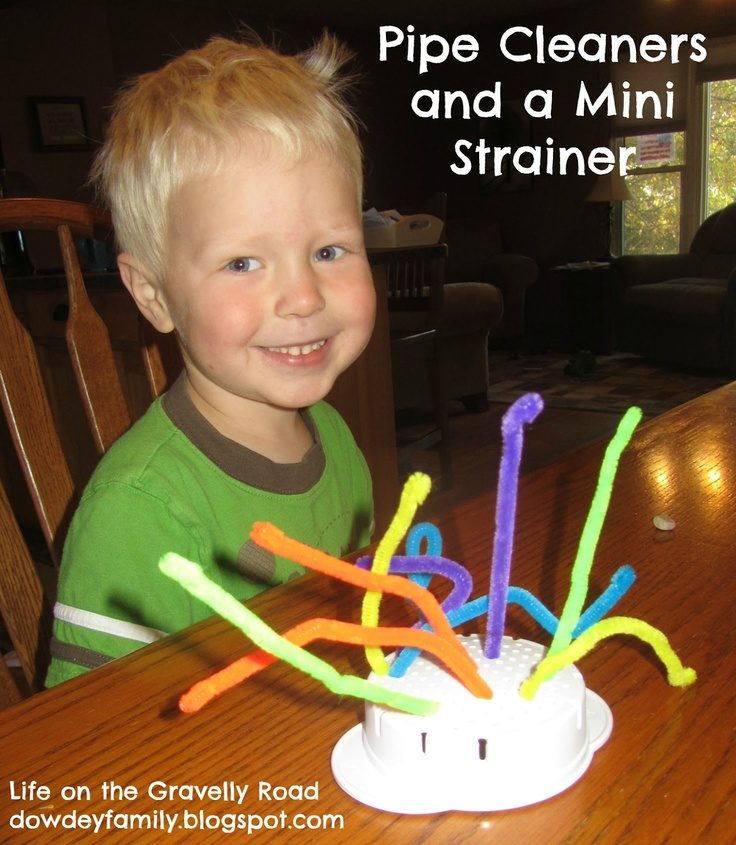Travel pipe cleaner activity. Perfect for long trips.