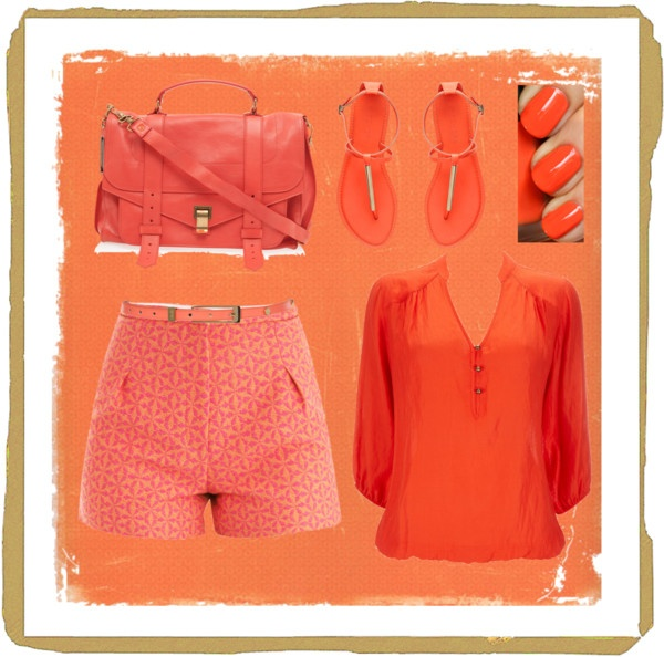 """orange outfit"" by homeyyomey on Polyvore"
