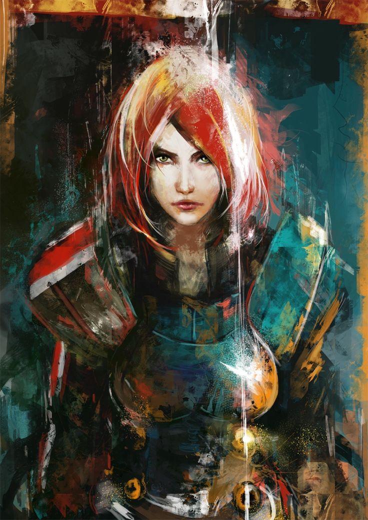 Female Commander Shepard.
