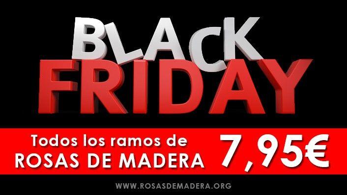 Oferta especial #BlackFriday en www.rosasdemadera.org todos los ramos de rosas por 7,95€ #oferta #decoración #regalo #ramosrosas