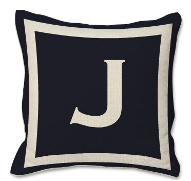 Throw Pillows With Letters : Navy throw pillow with letter J decor Pinterest Throw pillows, Letter j and Letters
