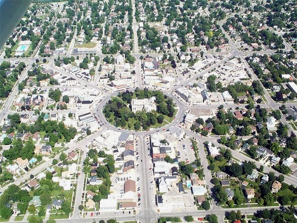 """Goderich Ontario ... The square in the centre of town is a unique feature of """"Canada's prettiest town"""""""