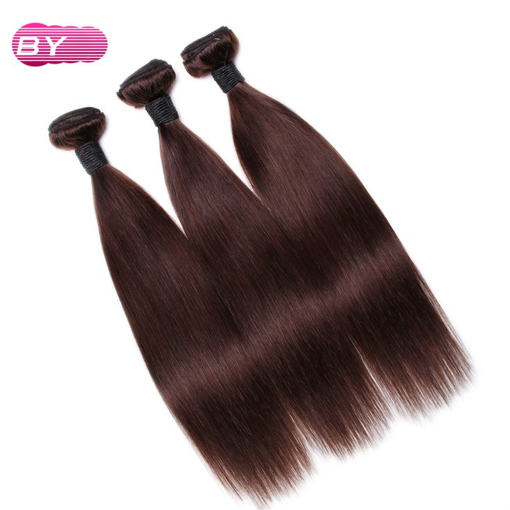 Bling Hair Brazilian Pre-Colored 3 bundles Remy Hair wigs for black women Straight human Hair Color 2# For Salon Hair Extension