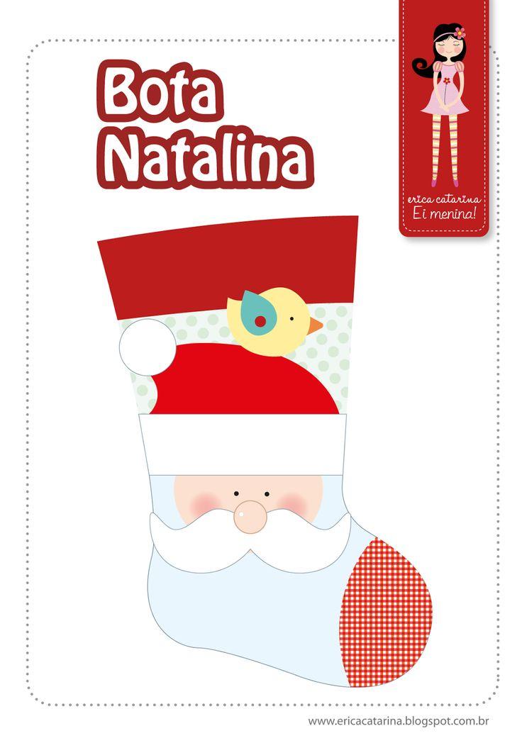 DIY Cute Christmas Stocking - FREE Pattern / Template