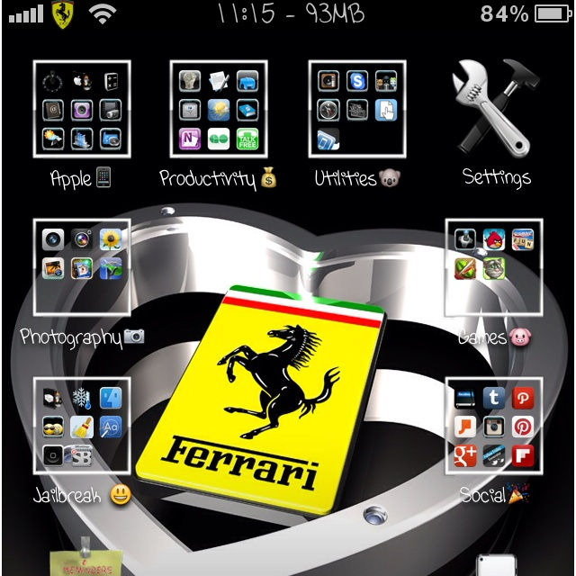 My Awesome Jailbroken iPhone. I love customizing everything about the phone. It's like having a new phone in my pocket everyday.