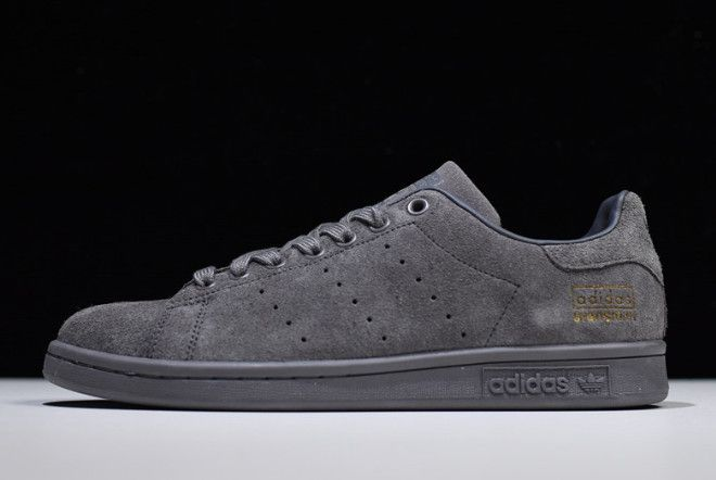 ee84c947e59b4 adidas Stan Smith Dark Grey Metallic Gold BZ0218 in 2019
