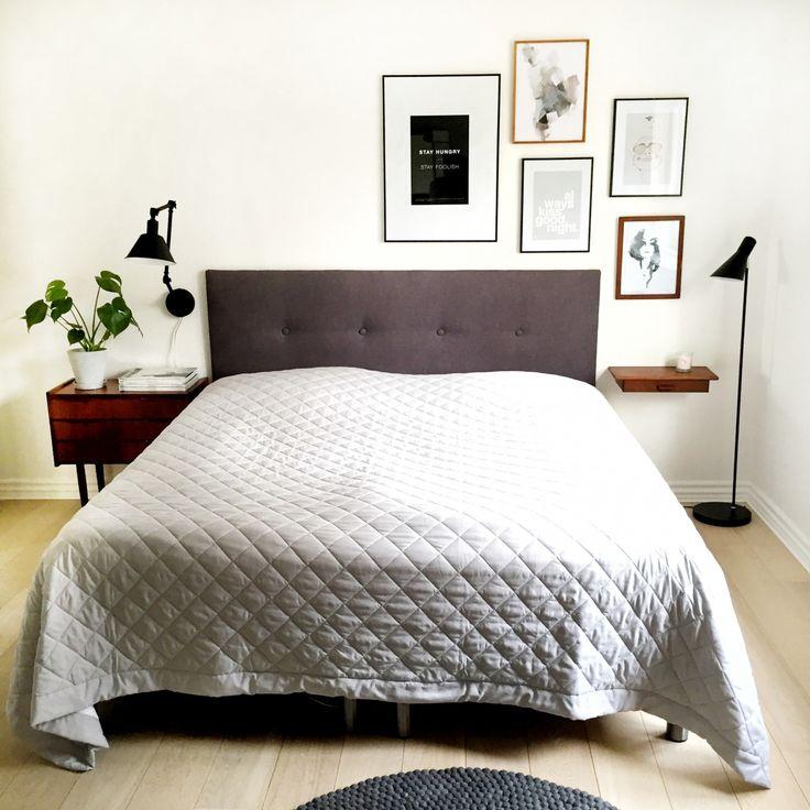 Beautifully styled bedroom - scandinavian retro modern