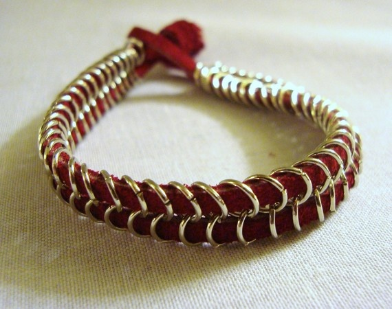 Leather and chainmaille...