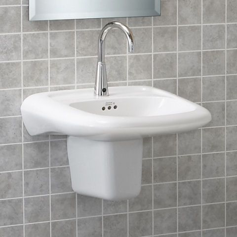 View Murro Universal Design Everclean Wall Mounted Sink