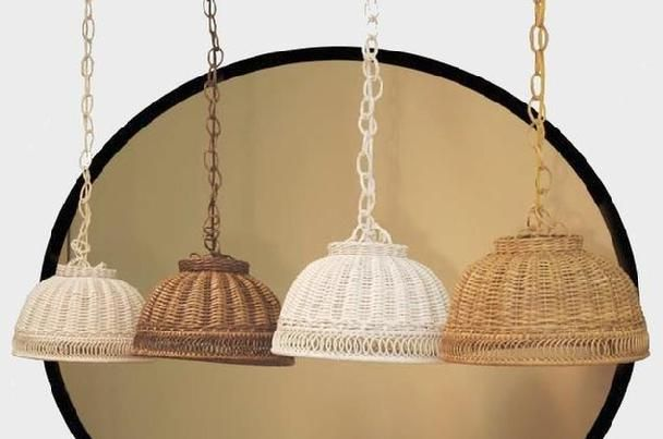wicker.org - wicker swag lamp shade,rattan ceiling hanging dome lampshades,cutout shades