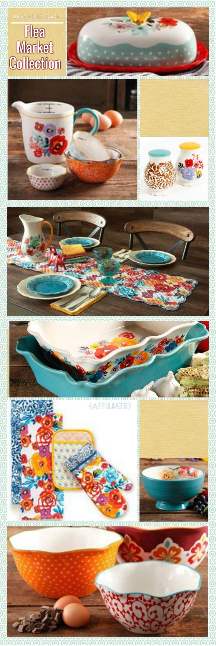 Vintage inspired and vibrant in color, spice up your home with the Pioneer Woman Flea Market collection!
