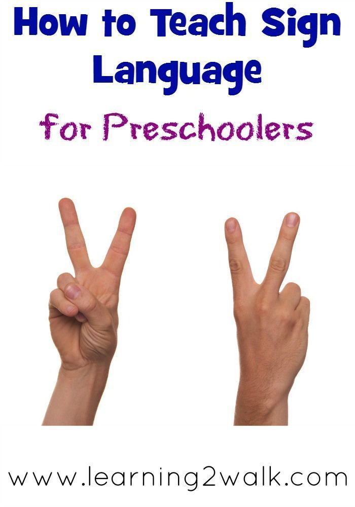 how to teach sign language to preschoolers