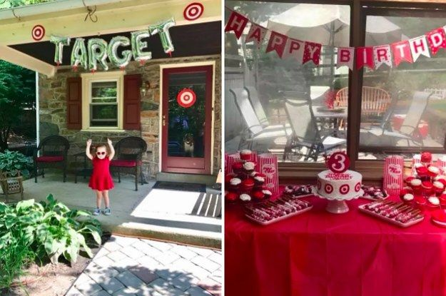 This 3 Year Old Asked For An Epic Target Themed Birthday Party