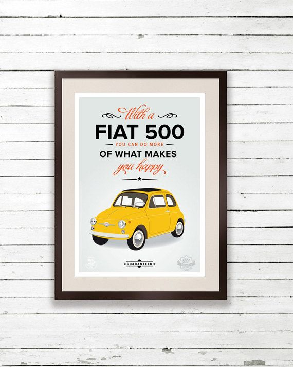 With #Fiat500 smile more & be #happy! Guaranteed :)