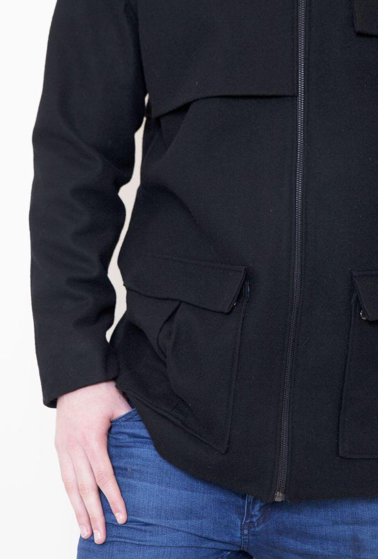 #TheAbbotsford #Gehrich #Melbourne #Coat #Mensfashion #Woolblend #Warm #Pockets #Black
