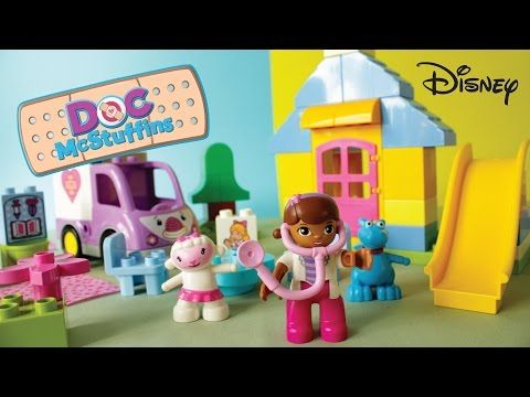 PLAY N LEARN — Doc McStuffins Duplo Playset gift unwrapping....