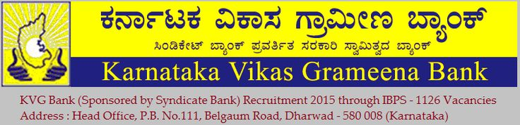 KVG Bank has given the detailed recruitment notification on its own official website for those candidates who have Indian Citizen ship and appeared the IBPS (Institute of Banking Personal Selection) CWE (Common Written Examination) for RRBs (Regional Rural Banks) September / October 2014 and declared qualified - See more at - www.recruitpapa.com