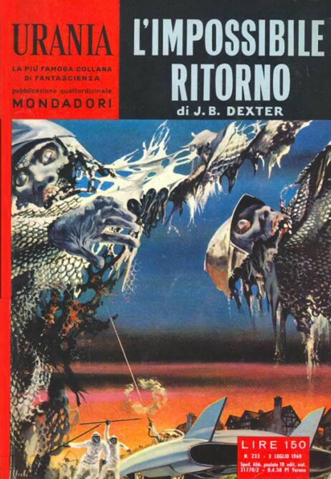 Urania #233 (1960-07-03)  L'impossibile ritorno Arnoldo Mondadori Editore Karel Thole cover
