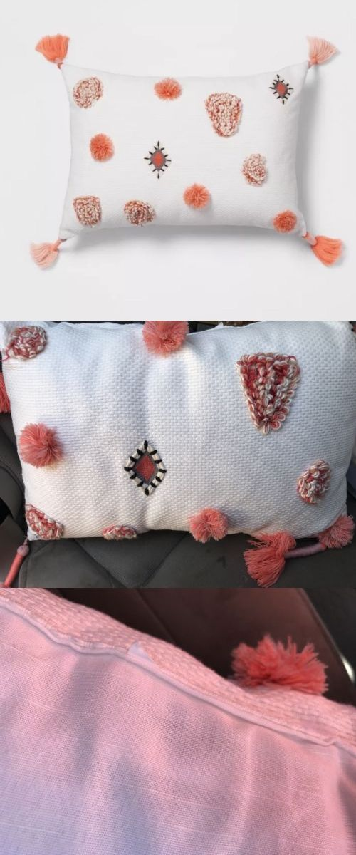 Decorative Bed Pillows 115630 1 Target Opalhouse Coral Tufted Yarn