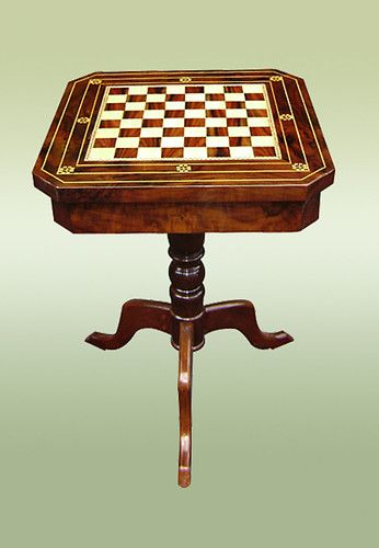 French Superbly Inlaid Chess Board Table | eBay