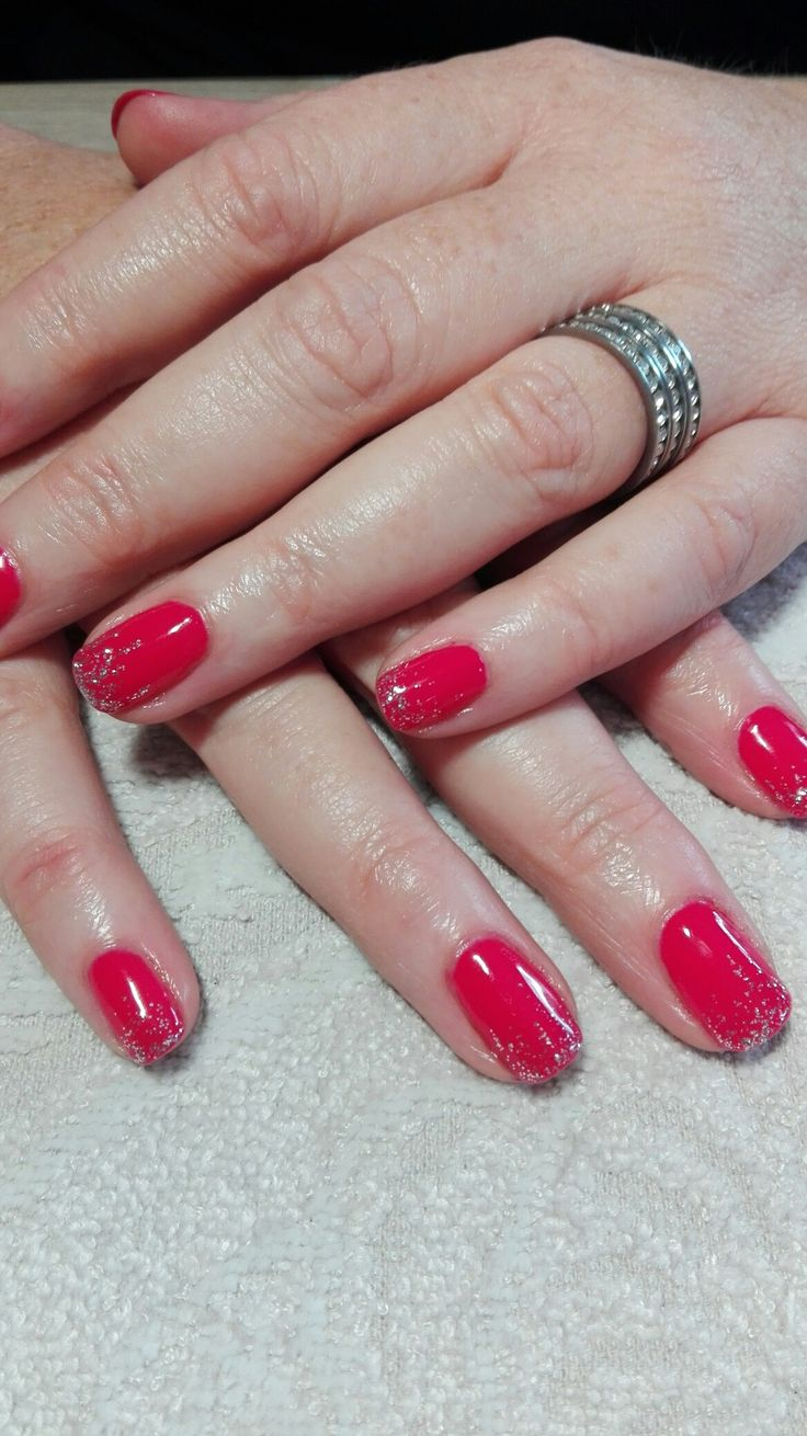 Bio Sculpture- Paradise Pink with waterfall glitter