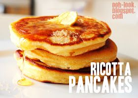 Ooh, Look...: Ricotta pancakes to reduce paper footprint