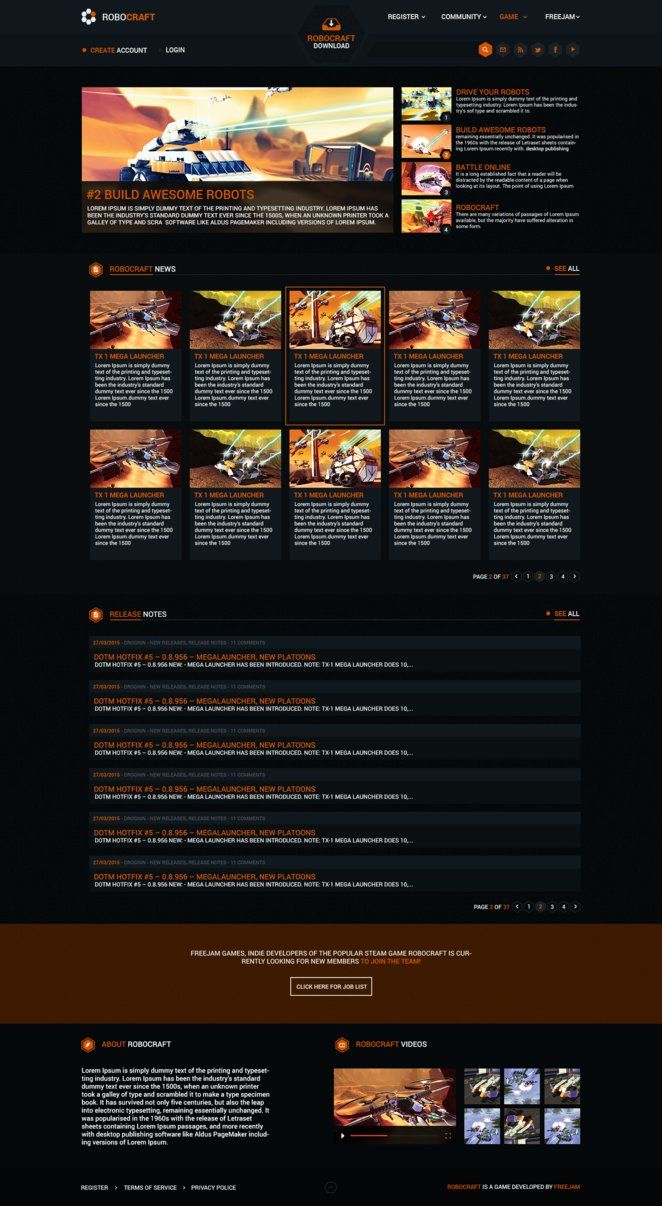RoboCraft Web design by iEimiz on DeviantArt
