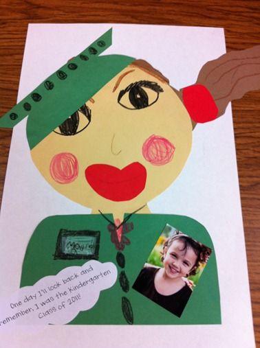 Adorable end of year graduation idea for Alyssa for preschool or kindergarten. Save and put in her school memories album
