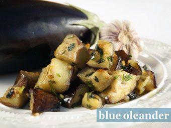 Sicilian eggplant dice