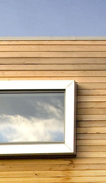 Aluminium cladding and cedar