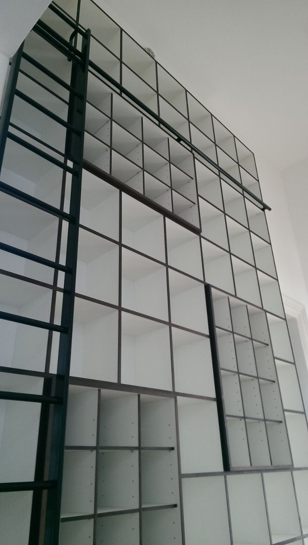 3.7 Metres High bookcase with a ladder
