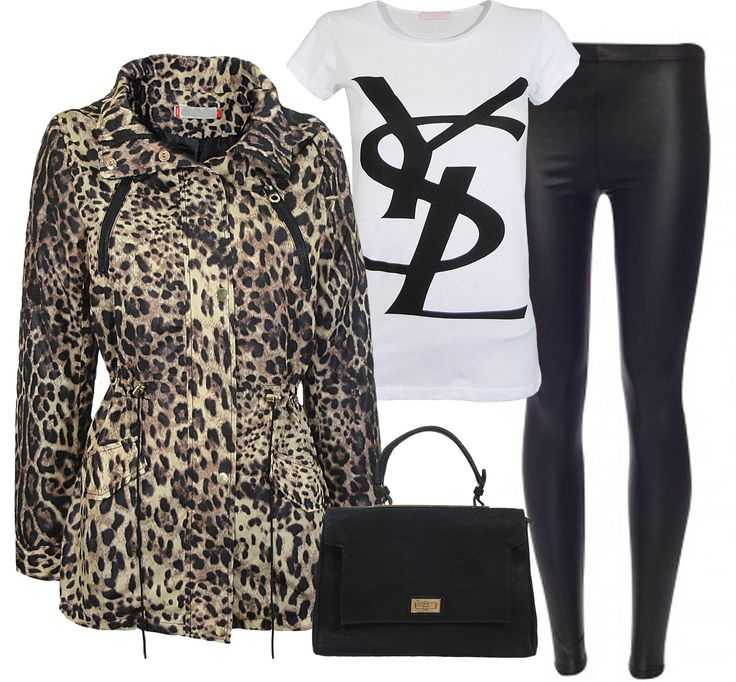 Leopard print parka