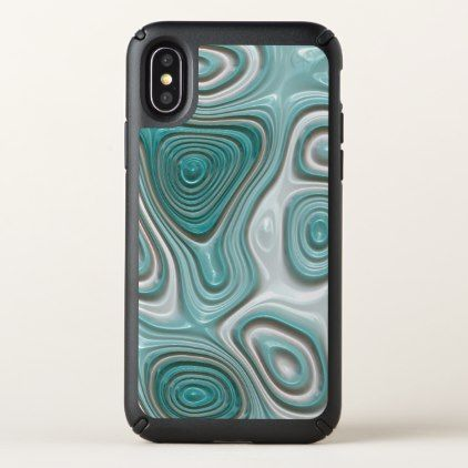 Funky White Aqua Turquoise Abstract Swirl Pattern Speck iPhone X Case - classy gifts custom diy personalize