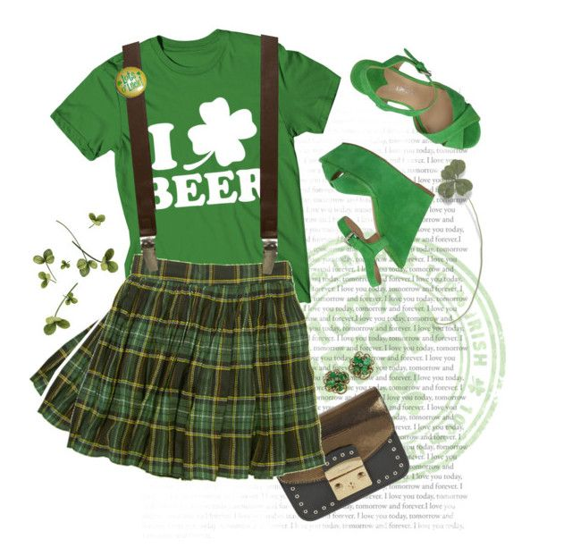 St. Patty's Oath. by s-elle on Polyvore featuring Market, The Seller, Furla, 40 Colori and statementtshirt