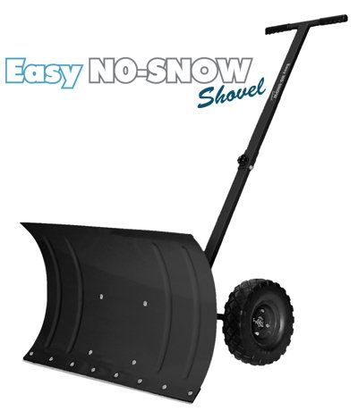 PREMIUM Heavy Duty Rolling Snow Shovel with Rotatable Steel Blade, 5 Way Adjustable Handle and Extra Large Rubber Wheels for Easy Rolling. > Our PREMIUM Just Got Better... EXTRA STRONG - Designed for Super Fast Shoveling - No Stress on Back. ALL PARTS REINFORCED ENGINEERED HARDEN METAL - For Years of lasting operation and maintenance TAKES MINUTES - Turn hours of snow shoveling moving or pushing into Minutes.