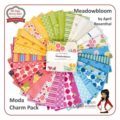 Moda-Meadowbloom-Charm-Pack-Squares-Fabric-Meadow-bloom-modern-vintage-retro-NEW