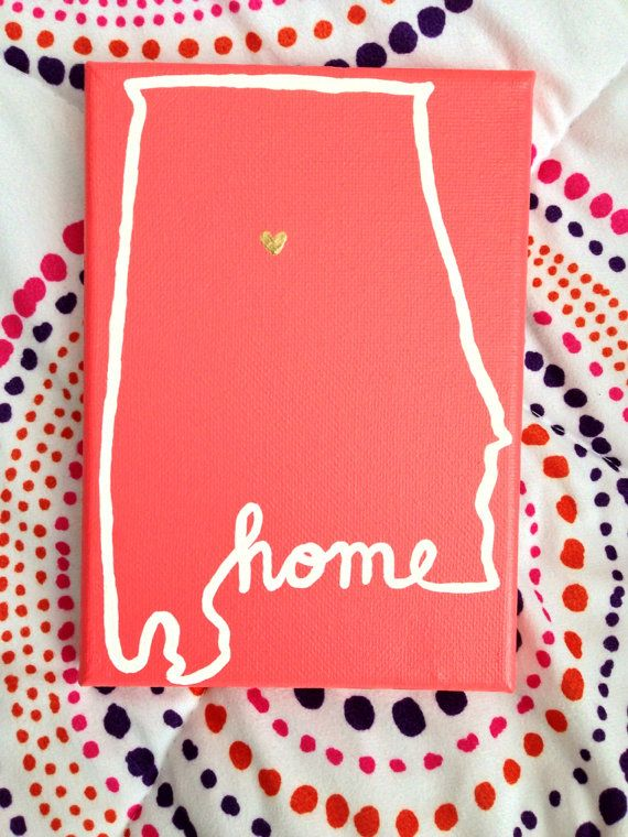 Alabama HOME Canvas by blessedcatastrophe on Etsy @Gabby Meriles Meriles Meriles Meriles