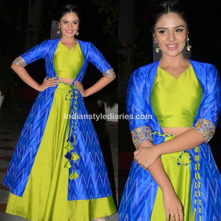 Sree mukhhi in crop top and skirt