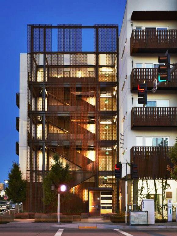 Corten Wall Screens And Stairs Rivermark Facade Design Creative Architecture West Sacramento