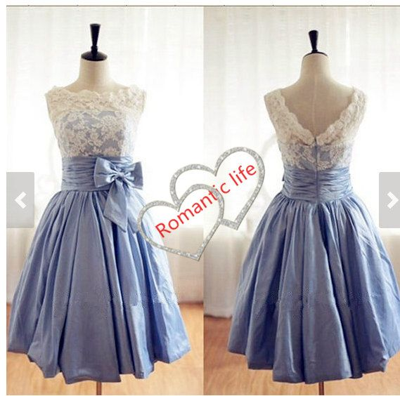 Military Banquet!!! :) Short prom dress evening gown lace prom dress beach by sylviadress, $83.00