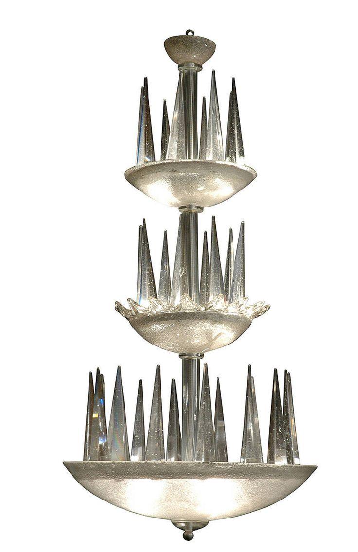 Murano, Lustre « Stalagmites » Italie, Vers 1960 H : 100 Cm ; D
