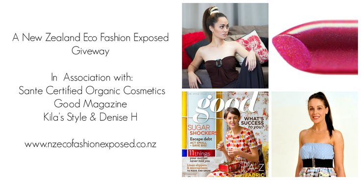 Enter to win: Enter the Prize Draw to Win ... A Sante Certified Organic Cosmetic Pack, A copy of Good Magazine and 2 x Tickets to The Maintain