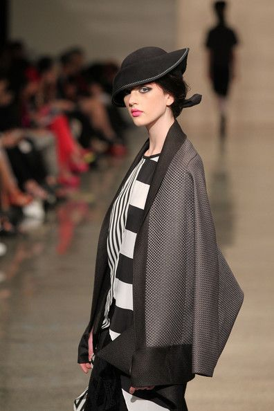 A model showcases designs by Dmonic Intent during the Miromoda Show on the runway during New Zealand Fashion Week at the Viaduct Events Cent...