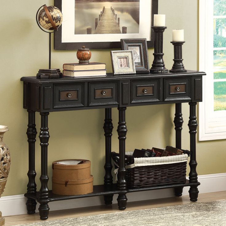 Monarch I 388 48 in. Veneer Traditional Console Table | from hayneedle.com