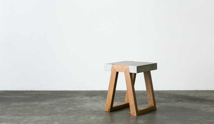 Brook - Timber and Concrete Side Table