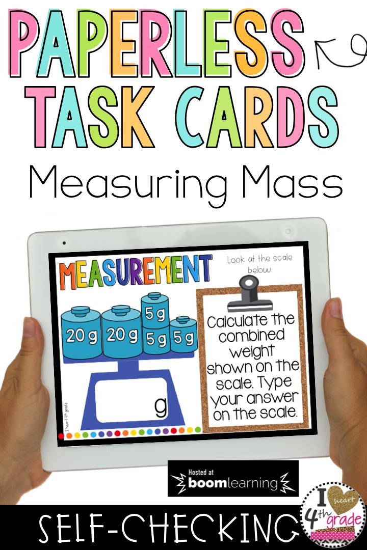 Measuring Mass | 3rd grade math | 3rd grade ,measurement | measurement centers | 3rd grade measurement lessons | Practice measuring mass with this set of self-checking digital task cards. ($)