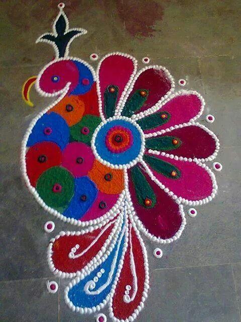 Rangoli design-tradditional art....
