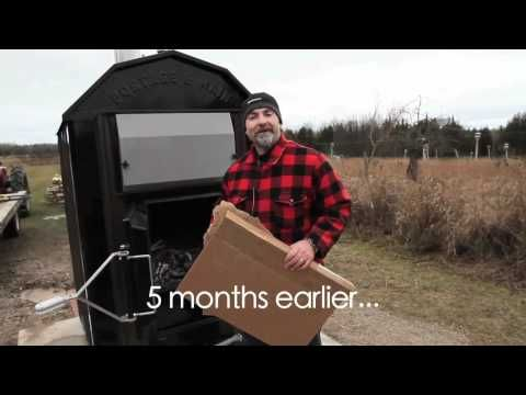 Outdoor Wood Furnace Tour - YouTube