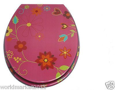 New Super Luxurious Red Resin Style Cover 6 Acrylic High-Grade OUV Toilet Seat