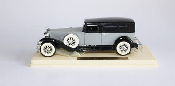 Vintage Duesenberg Car French Die Cast Model Scale 1 to 43